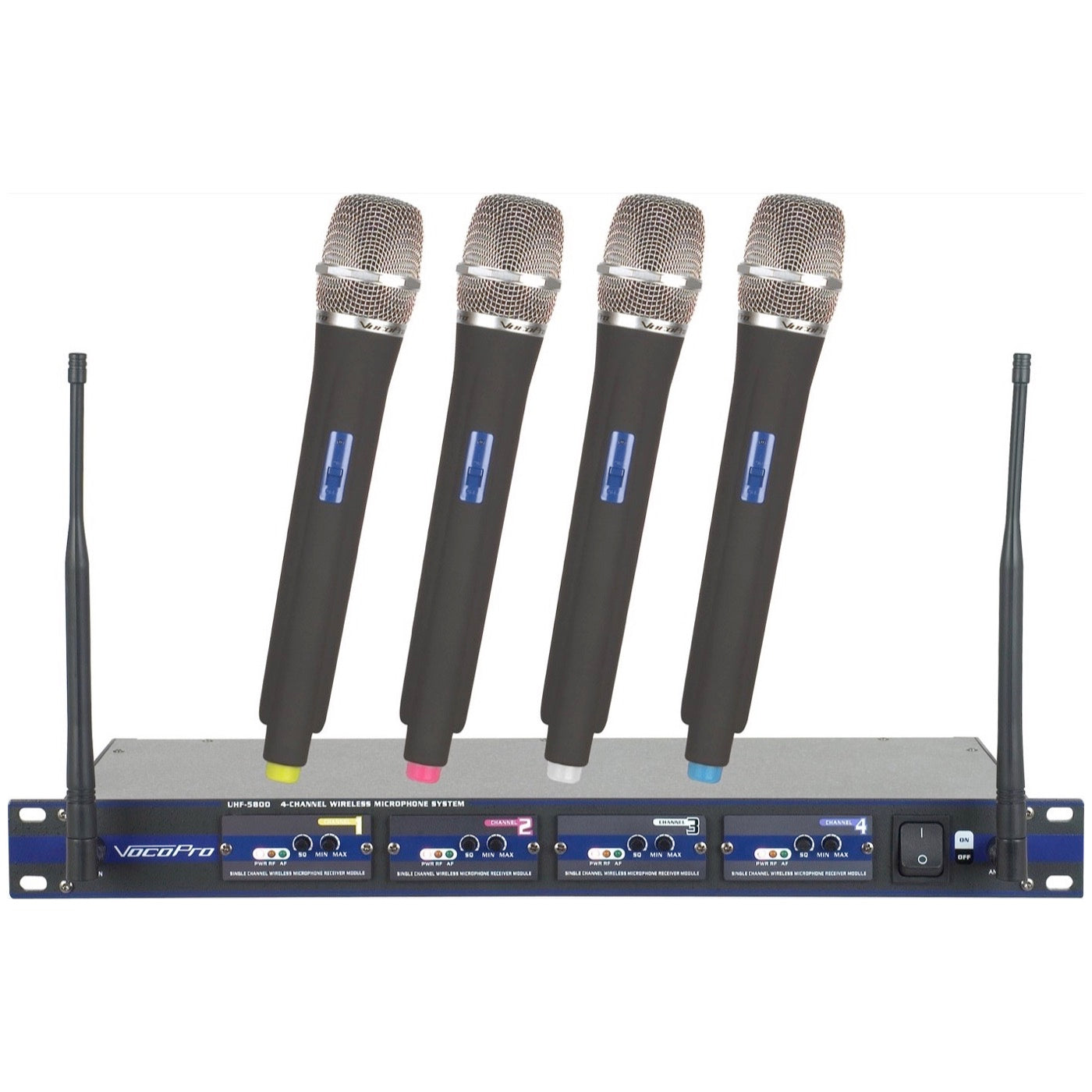 VocoPro UHF-5800 Pack UHF Wireless Microphone System, 4 Microphones (with Gig Bag)