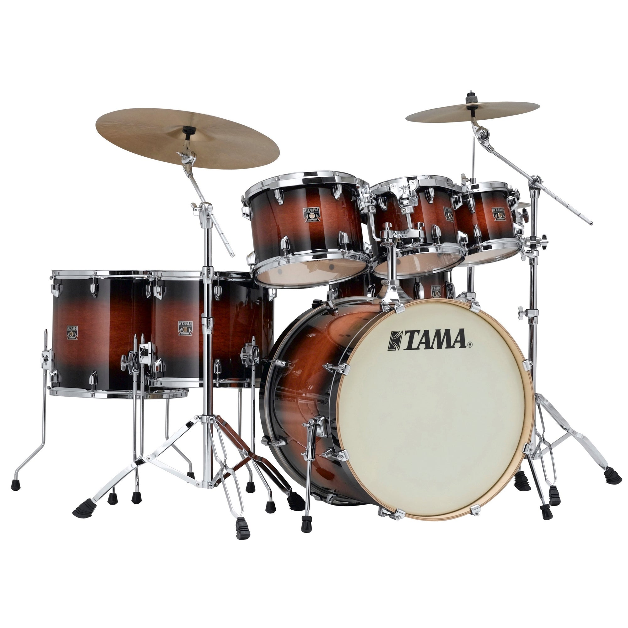 Tama CL72S Superstar Classic Drum Shell Kit, 7-Piece, Mahogany Burst