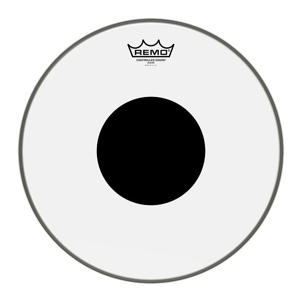 Remo Weatherking Clear Controlled Sound Drumhead (Black Dot), 16 Inch
