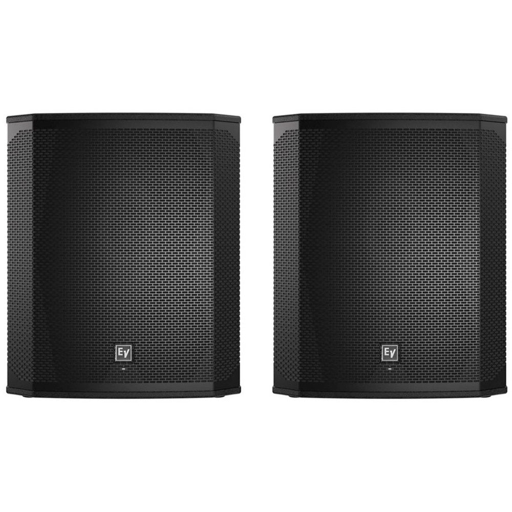 Electro-Voice ELX200-18SP Powered Subwoofer Speaker (1200 Watts), Black, Pair