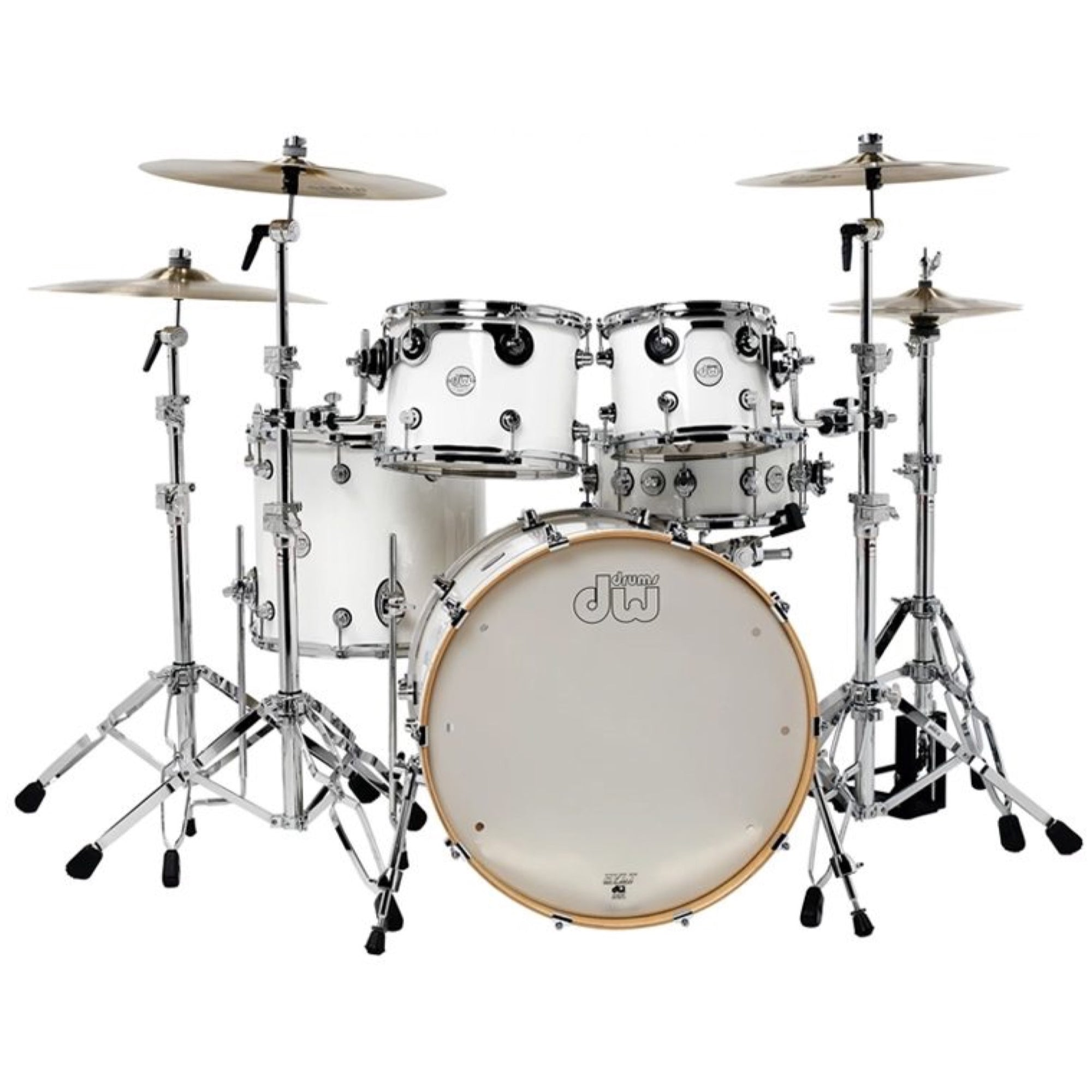 Drum Workshop DDLG2215 Design Series Drum Shell Kit, 5-Piece, White