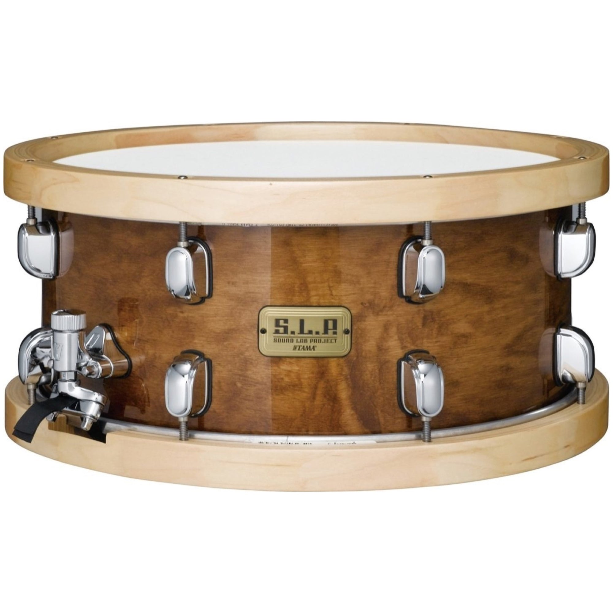 Tama SLP Maple Sienna Snare Drum, with Snare Drum Bag, 6.5x14 Inch