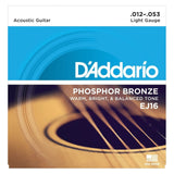 Load image into Gallery viewer, D'Addario EJ16 Phosphor Bronze Acoustic Guitar Strings (Light, 12-53), Single Set