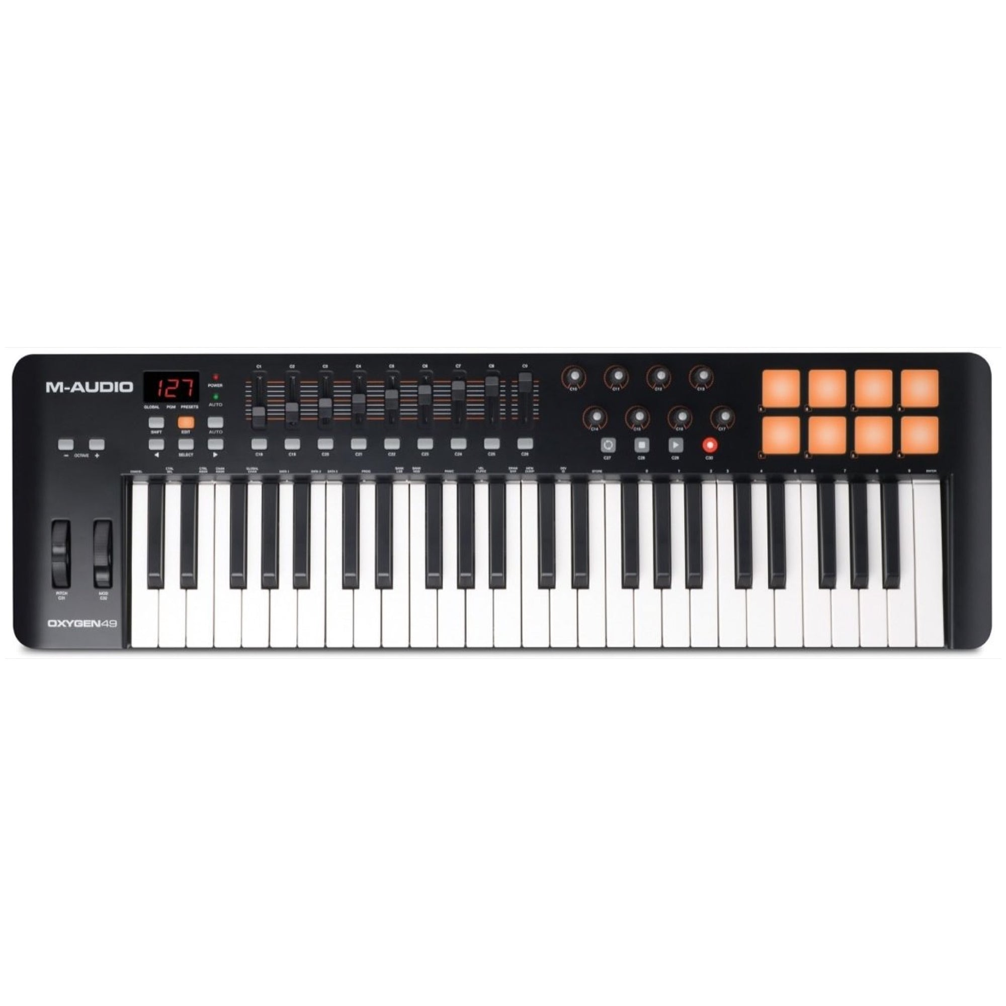 M-Audio Oxygen 49 IV USB MIDI Keyboard Controller, 49-Key