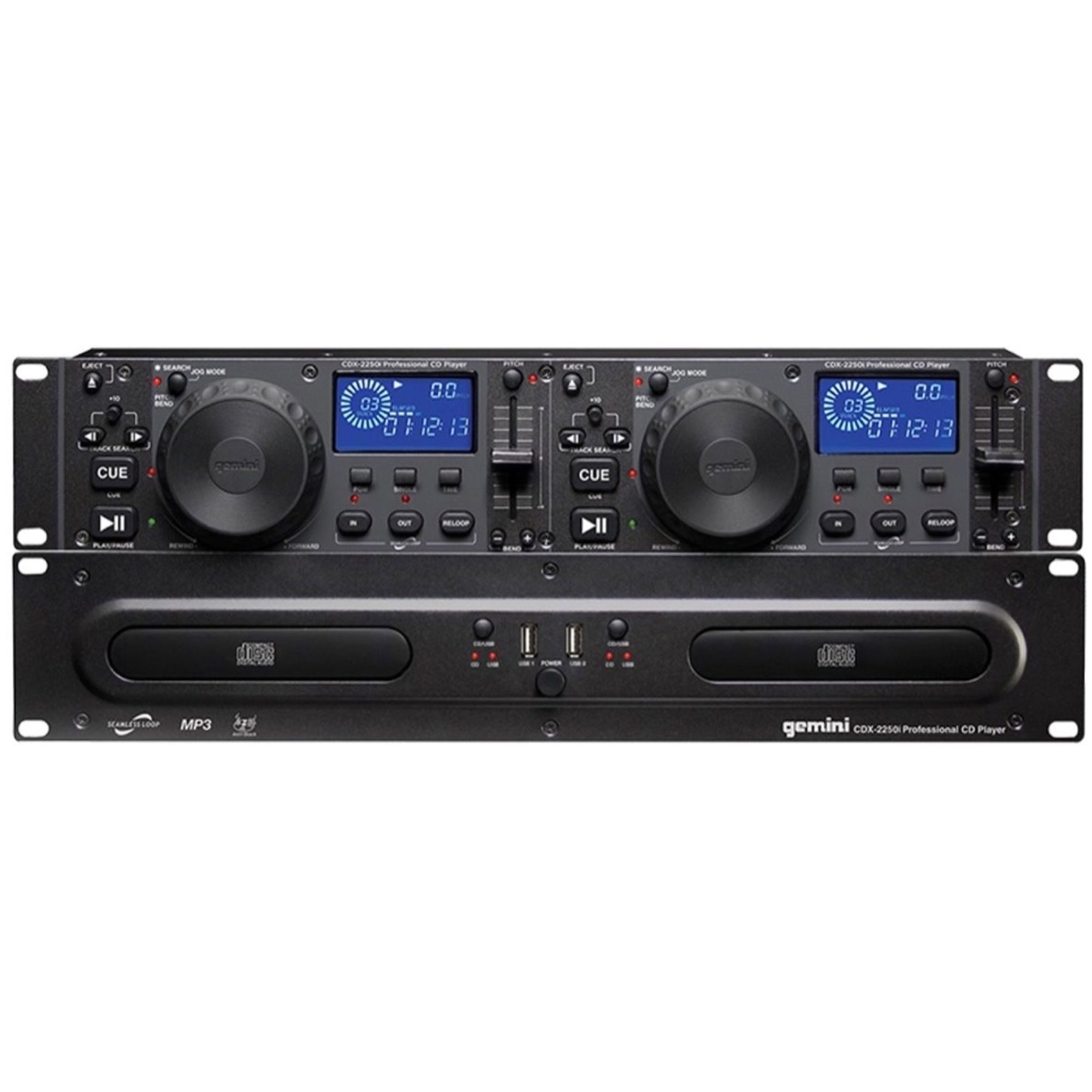 Gemini CDX-2250i Professional Rackmount Dual CD Player