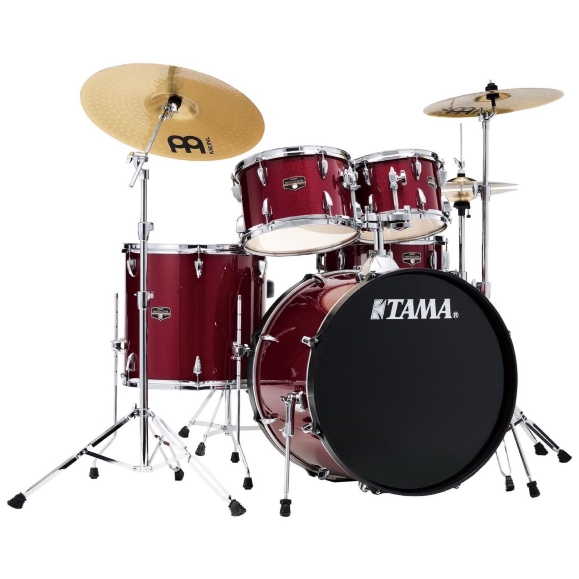 Tama IE52C Imperialstar Drum Kit, 5-Piece (with Meinl Cymbals), Candy Apple Mist