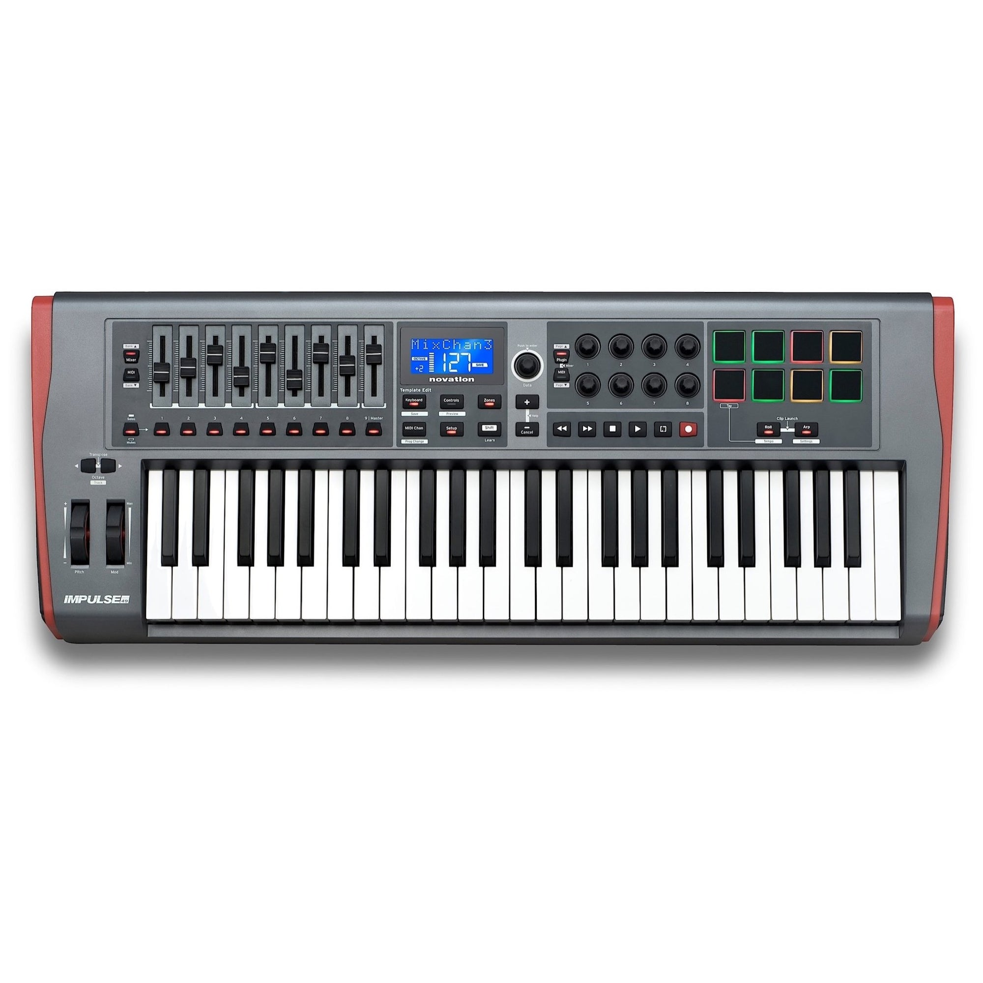 Novation Impulse 49 USB/MIDI Keyboard Controller, 49-Key