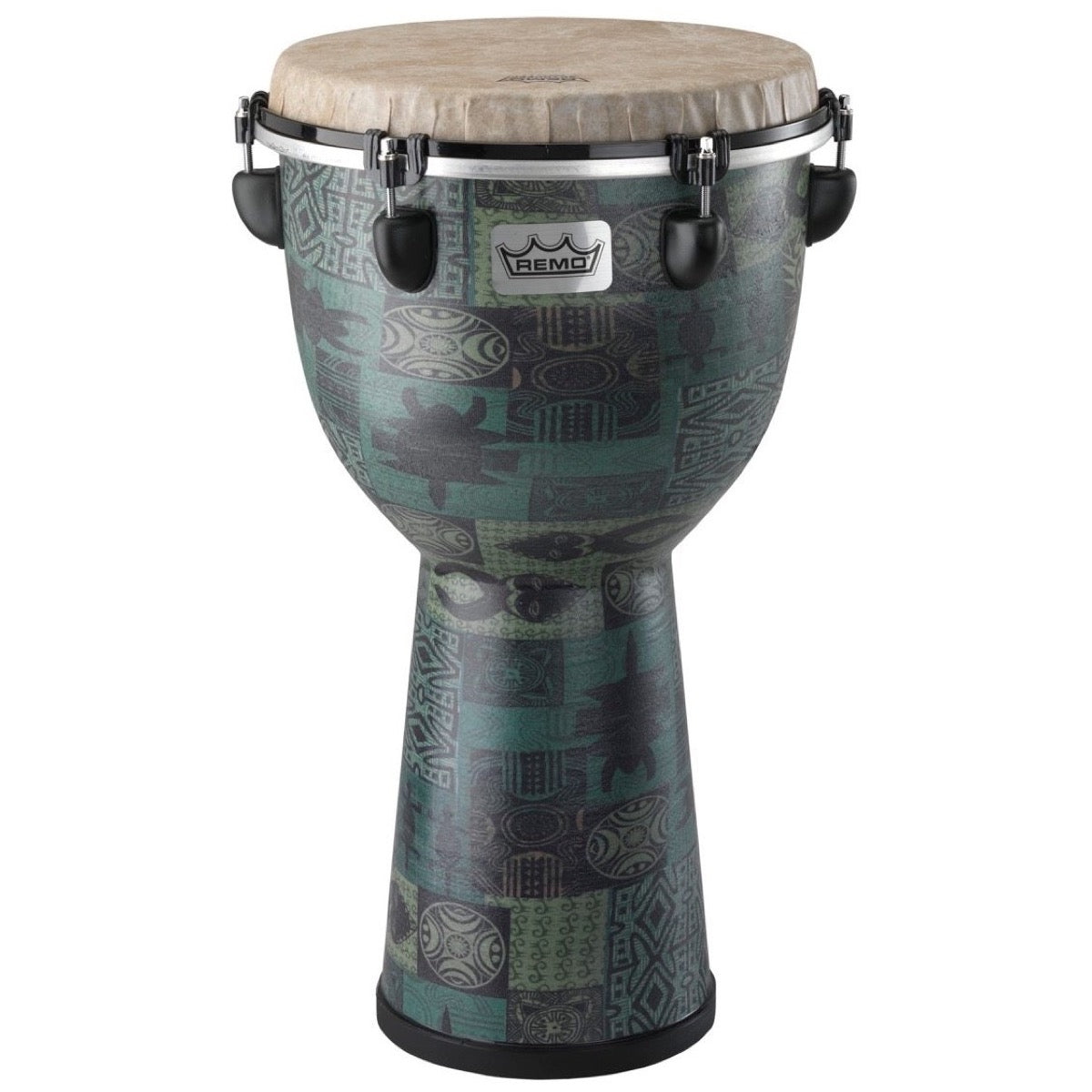 Remo Apex Djembe Drum, Green, 12 Inch