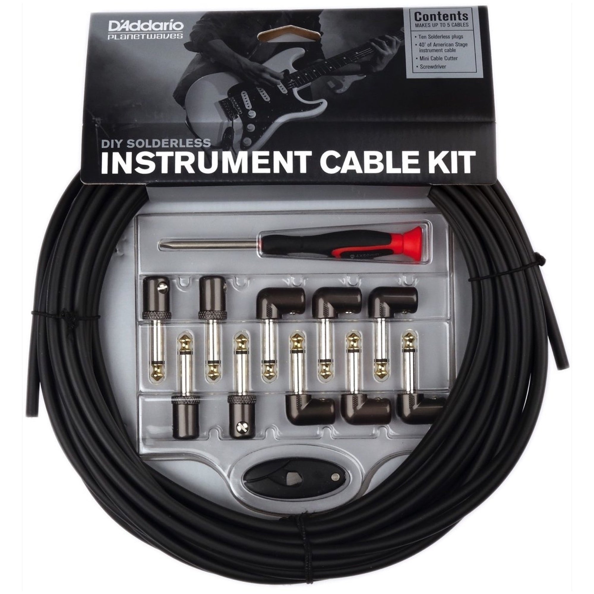Planet Waves DIY Solderless Cable Kit, 50 Foot
