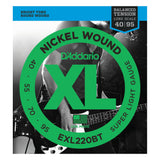Load image into Gallery viewer, D'Addario EXLBT Balanced Tension Nickel Wound Electric Bass Strings, EXL220BT, Super Light, 40-95