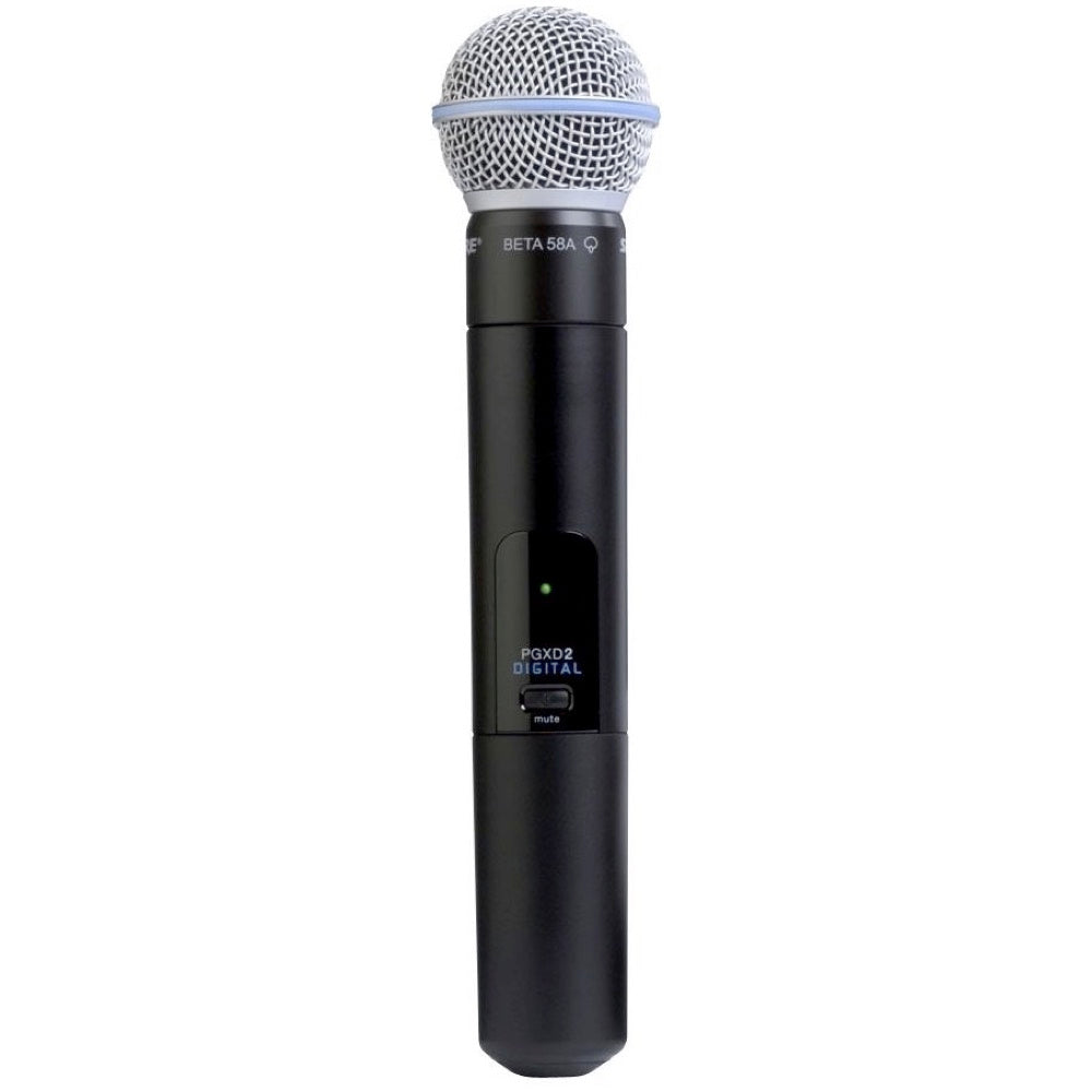 Shure PGXD2 Beta58 Digital Handheld Wireless Microphone Transmitter, Band X8 (902 - 928 MHz)
