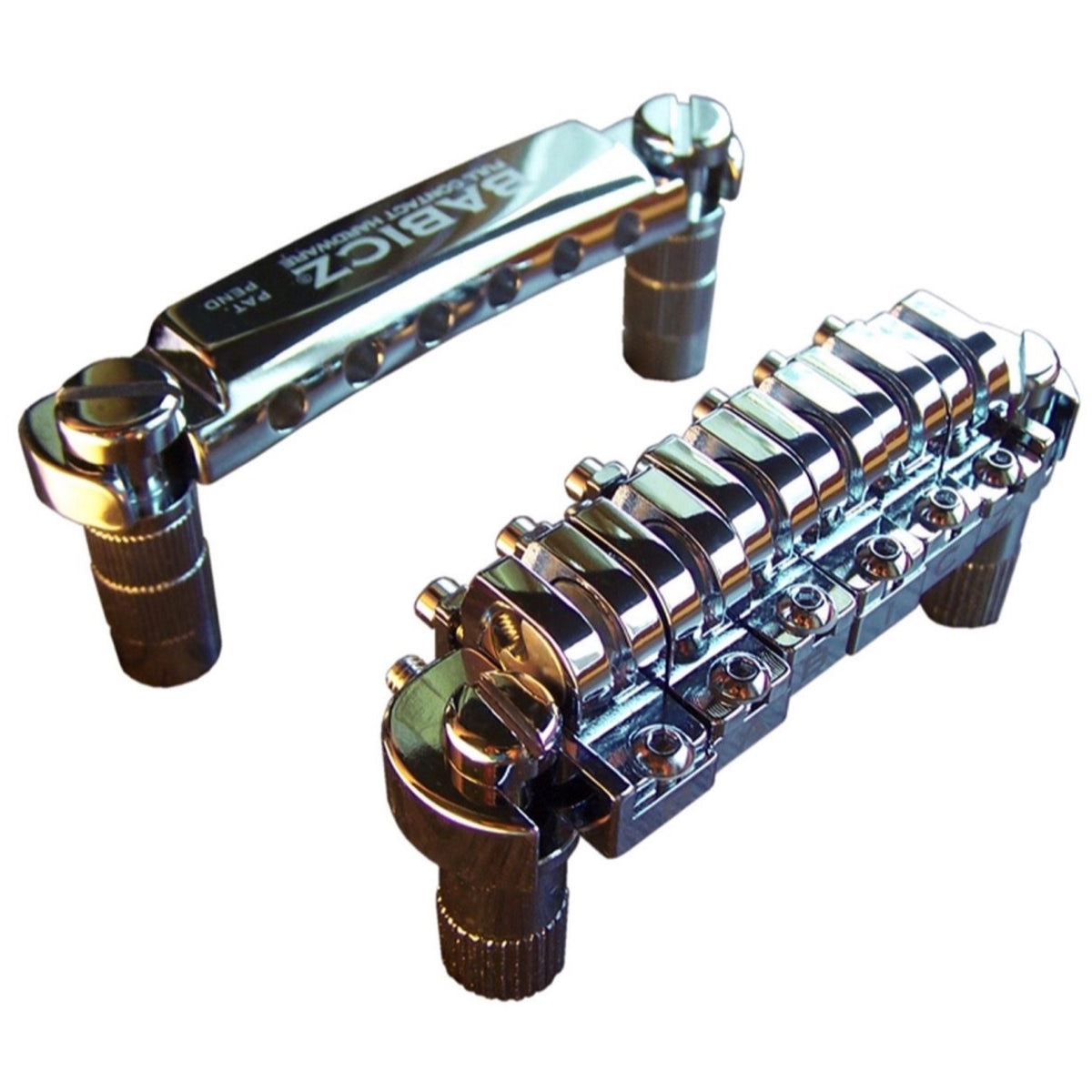 Babicz Full Contact Hardware Tune-O-Matic Bridge and Tailpiece, Chrome