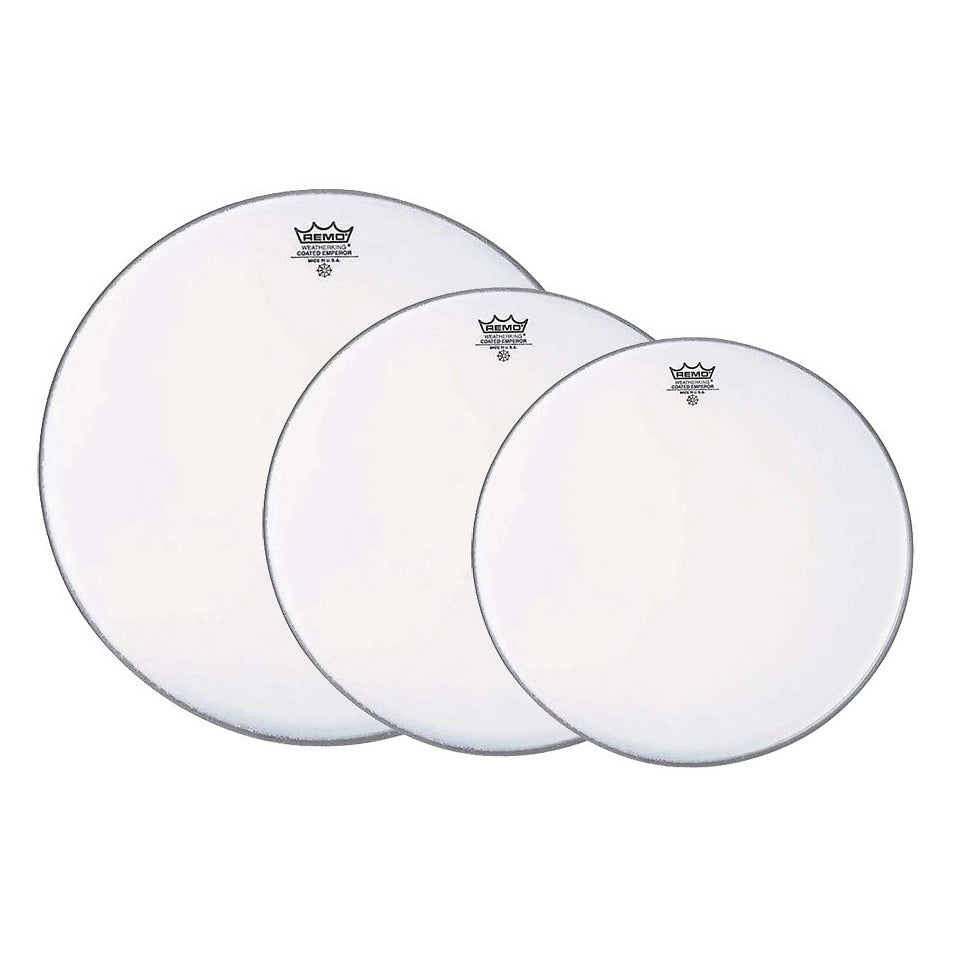 Remo Coated Emperor Tom Drumhead Pack, Pack 1, 12, 13, and 16 Inch