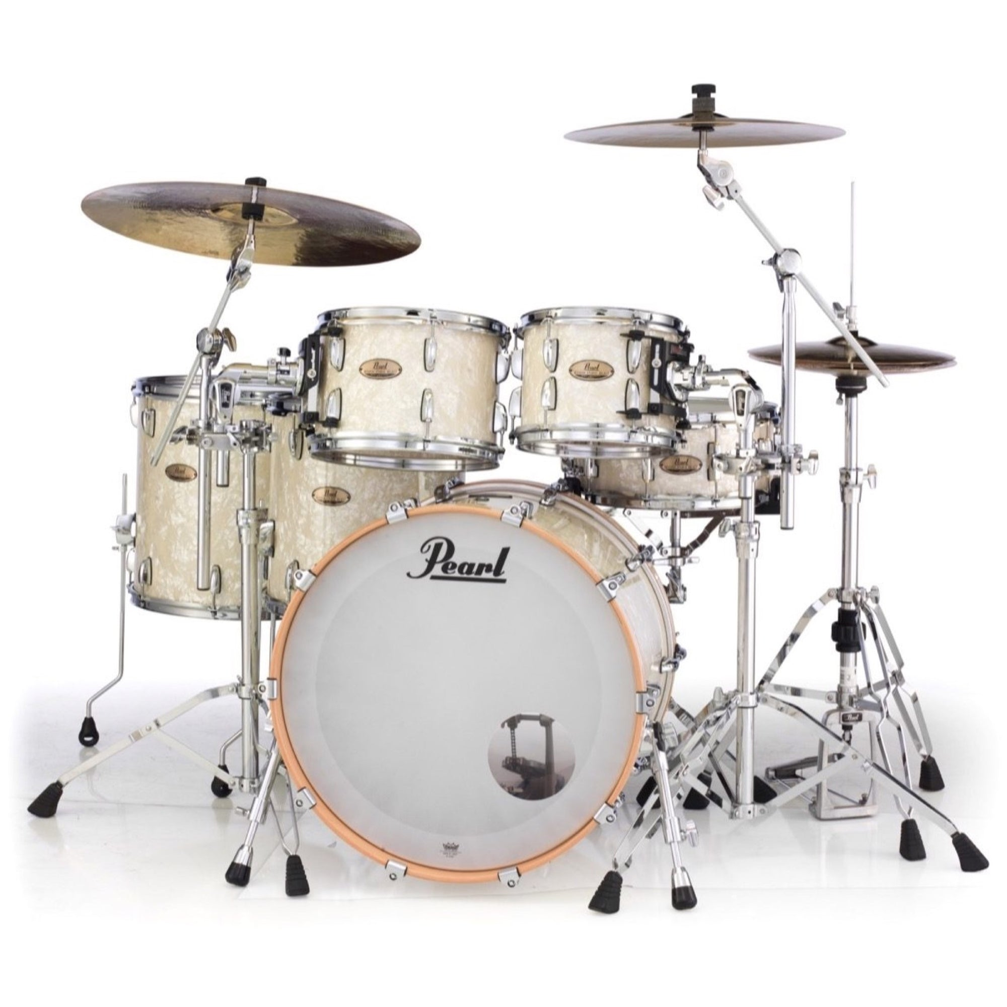 Pearl Session Studio Select Drum Shell Kit, 5-Piece, Nicotine White Marine Pearl
