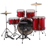 Load image into Gallery viewer, Ludwig LC175 Accent Drive Complete Drum Kit (5-Piece), Red Foil