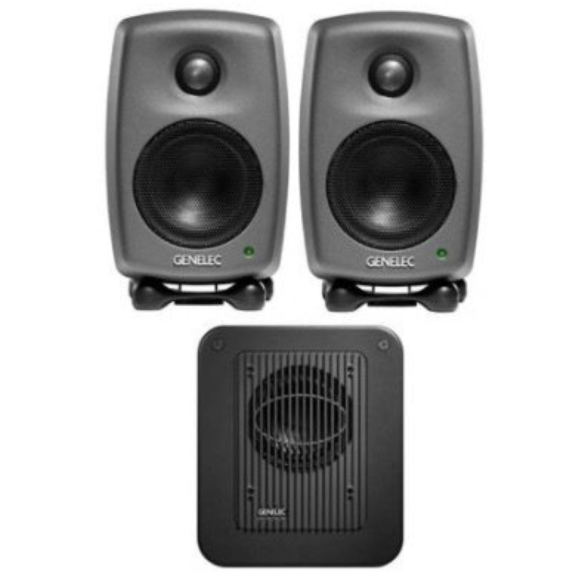 Genelec 8010 LSE StereoPak Studio Monitors + Subwoofer Package
