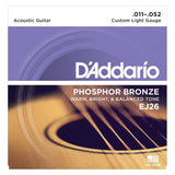 Load image into Gallery viewer, D'Addario EJ26 Phosphor Bronze Acoustic Guitar Strings (Custom Light, 11-52), Single Set