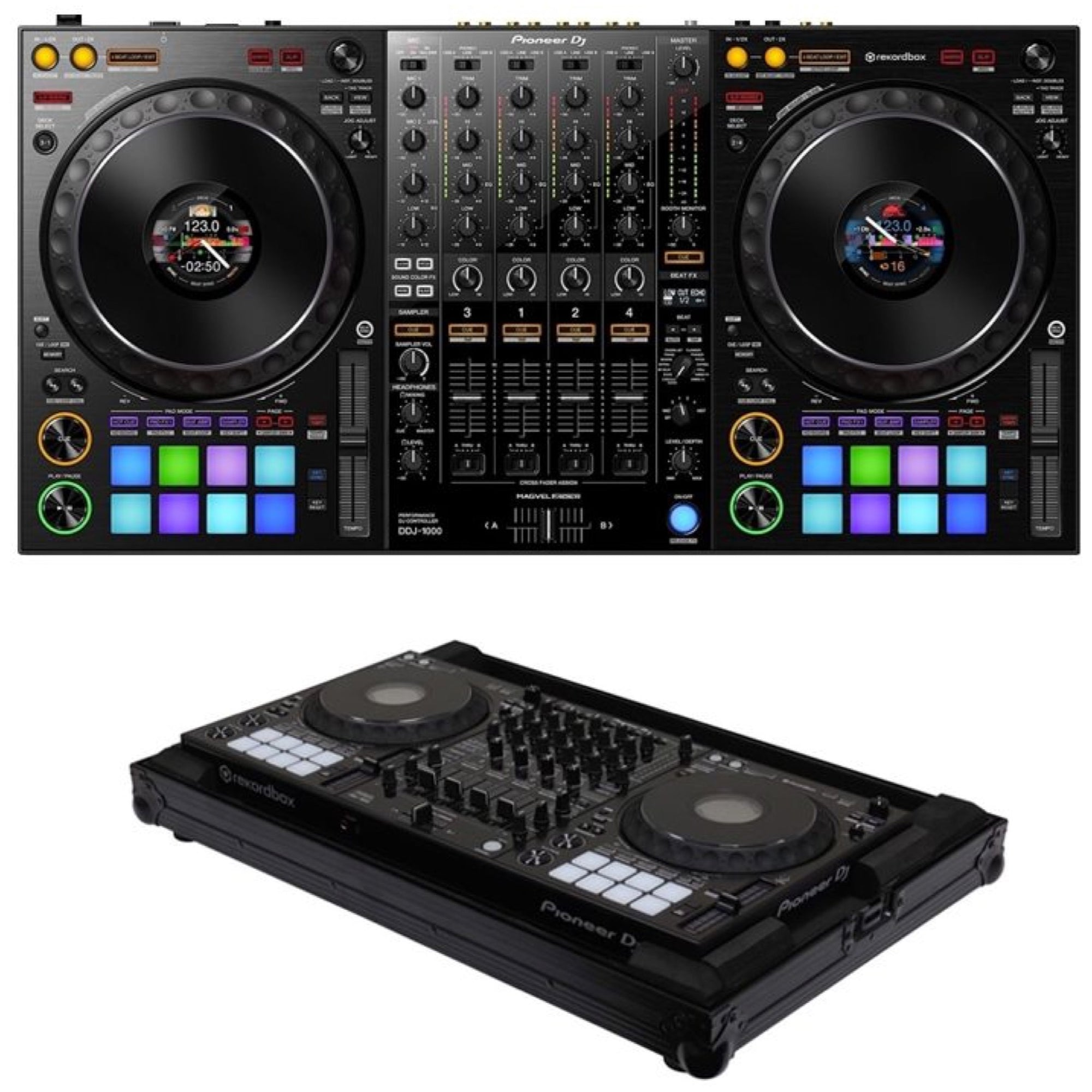 Pioneer DDJ-1000 Professional Controller for Rekordbox DJ, with Odyssey Case