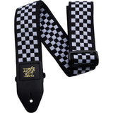 Load image into Gallery viewer, Ernie Ball Jacquard Guitar Strap, Black/White