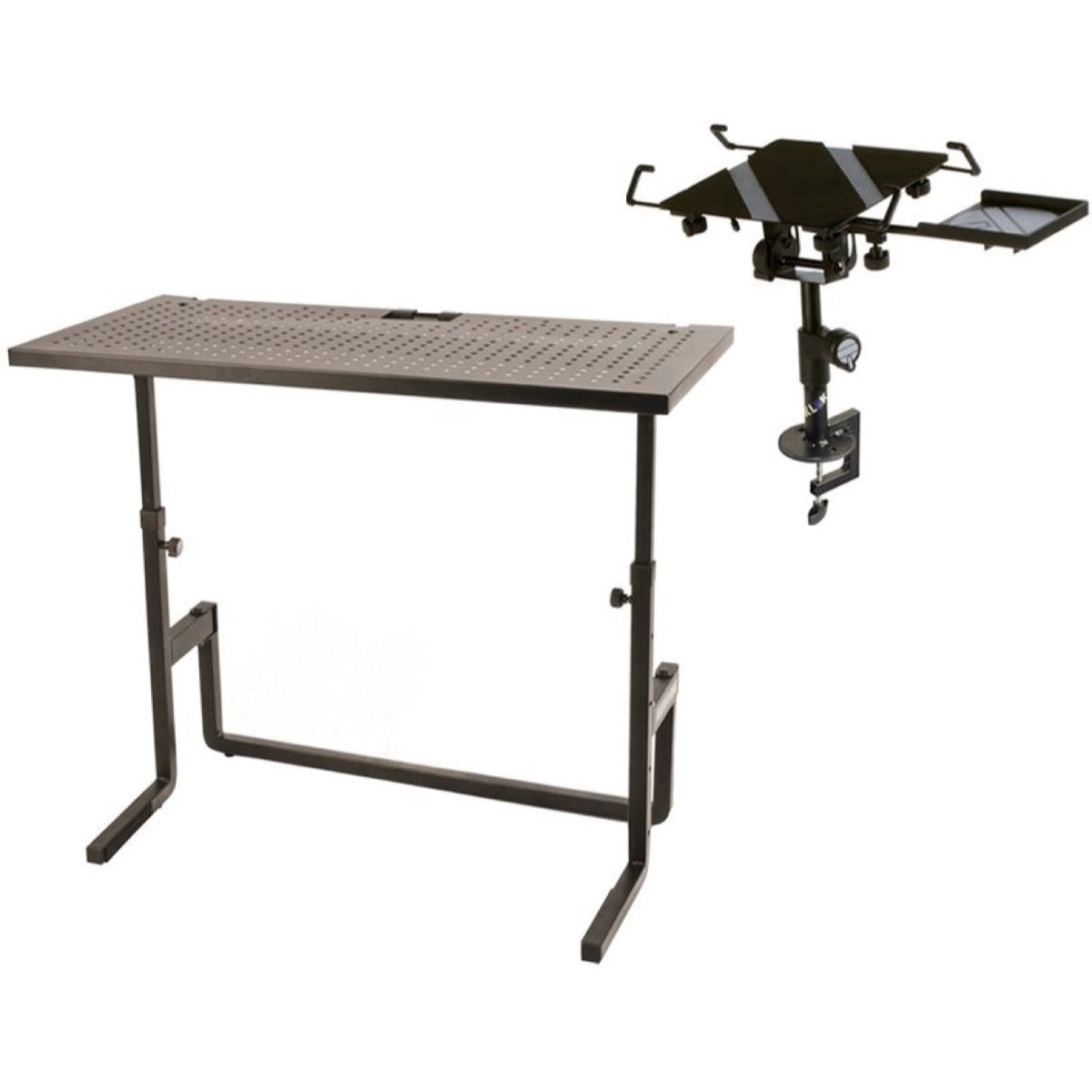 Quik Lok DJ Table, with Tabletop Laptop Mount