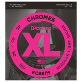Load image into Gallery viewer, D'Addario ECB81M Chromes Flatwound Bass String (Regular Light, Medium Scale)