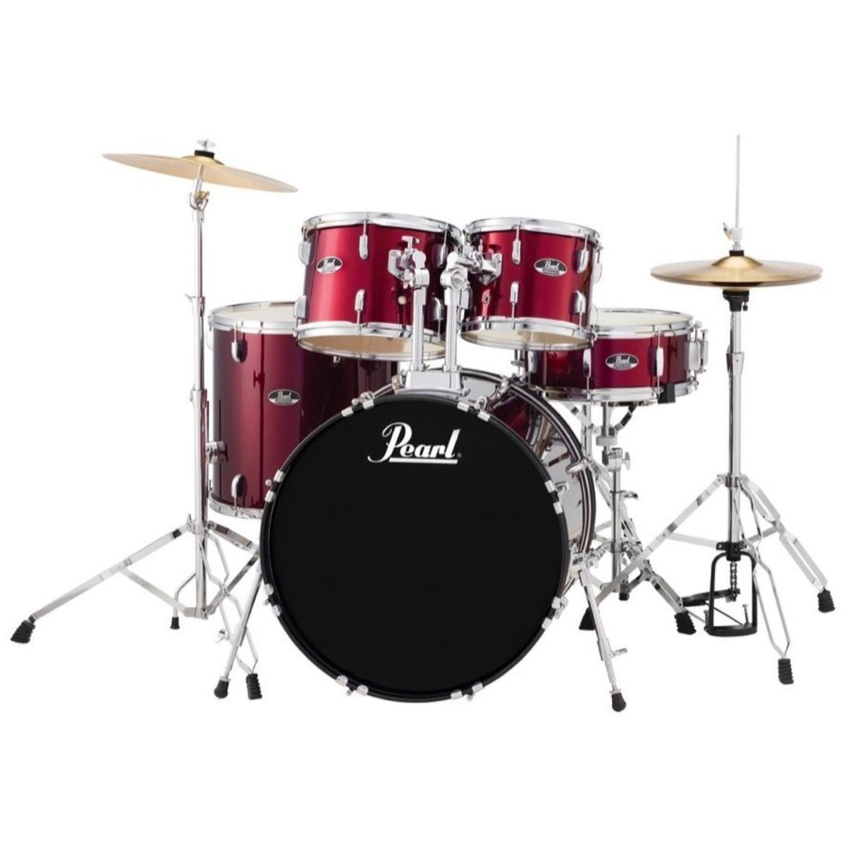 Pearl RS525SC Roadshow Complete Drum Kit, 5-Piece, Wine Red