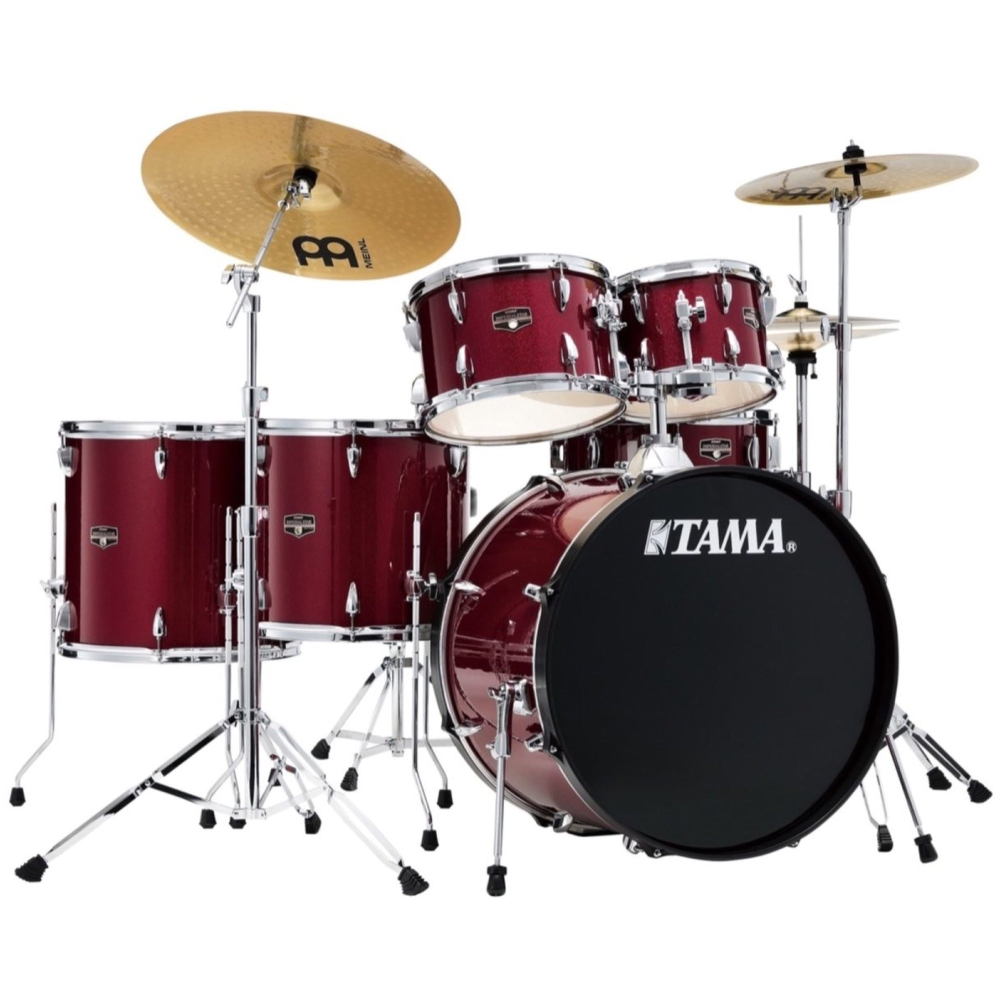 Tama IE62C Imperialstar Drum Kit, 6-Piece (with Meinl Cymbals), Candy Apple Mist
