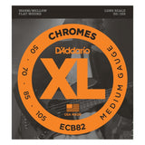 Load image into Gallery viewer, D'Addario ECB82 Chromes Flatwound Bass Strings (Medium Gauge, Long Scale)