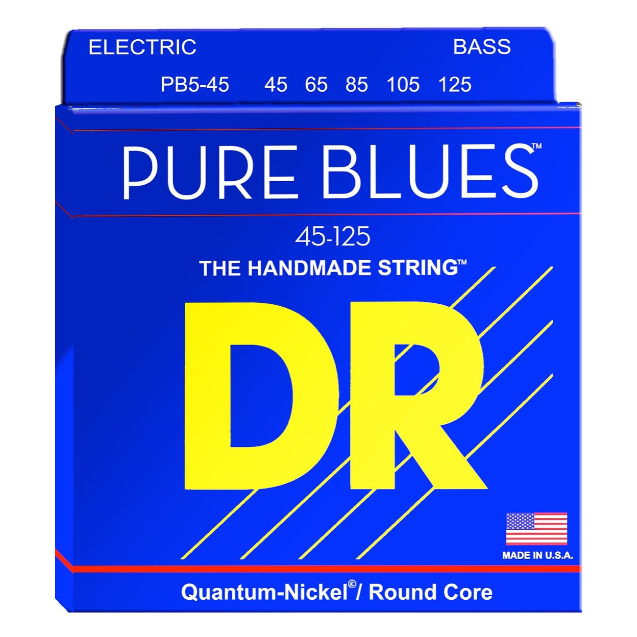 DR Strings Pure Blues 5-String Electric Bass Strings, PB5-45, 45-125