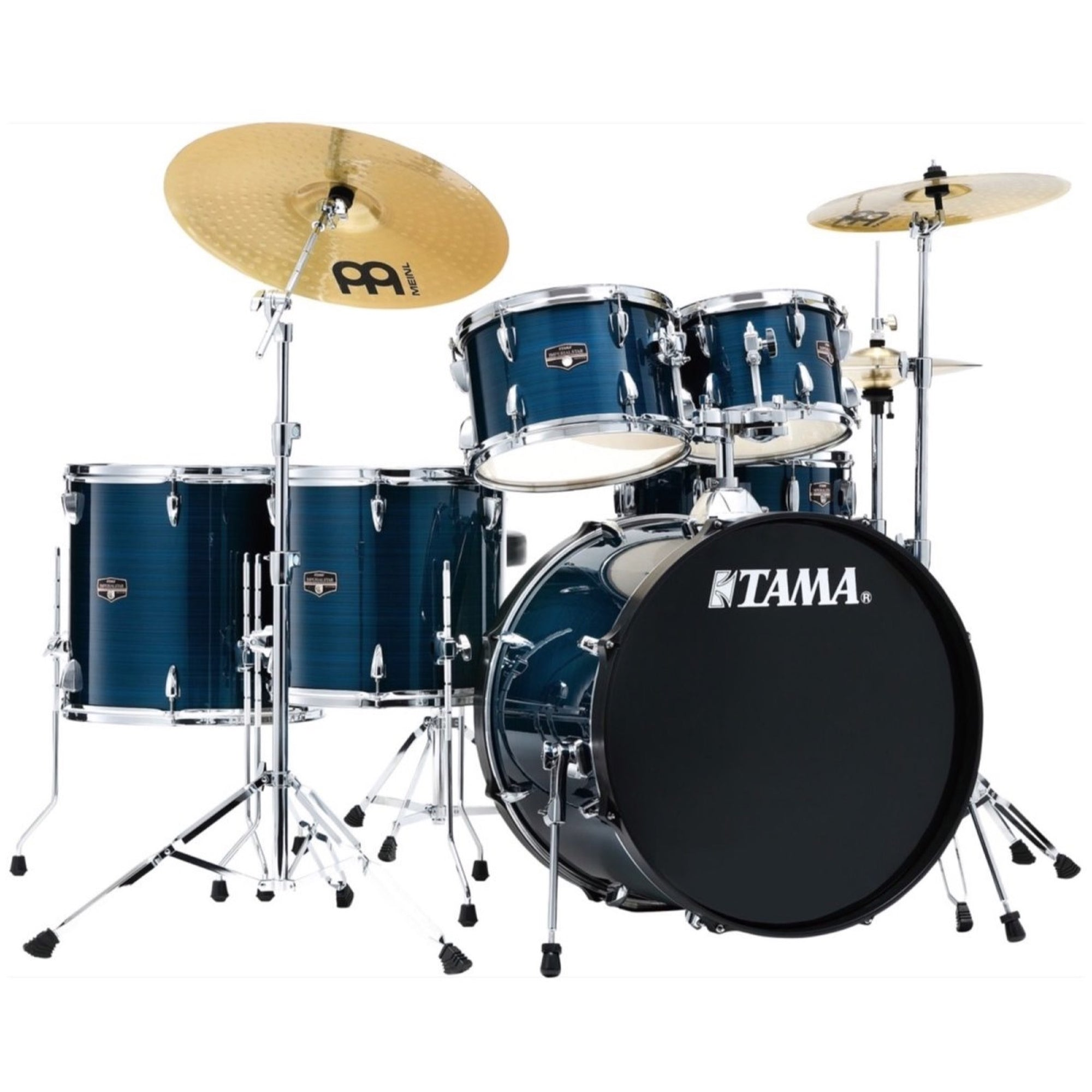 Tama IE62C Imperialstar Drum Kit, 6-Piece (with Meinl Cymbals), Hairline Blue