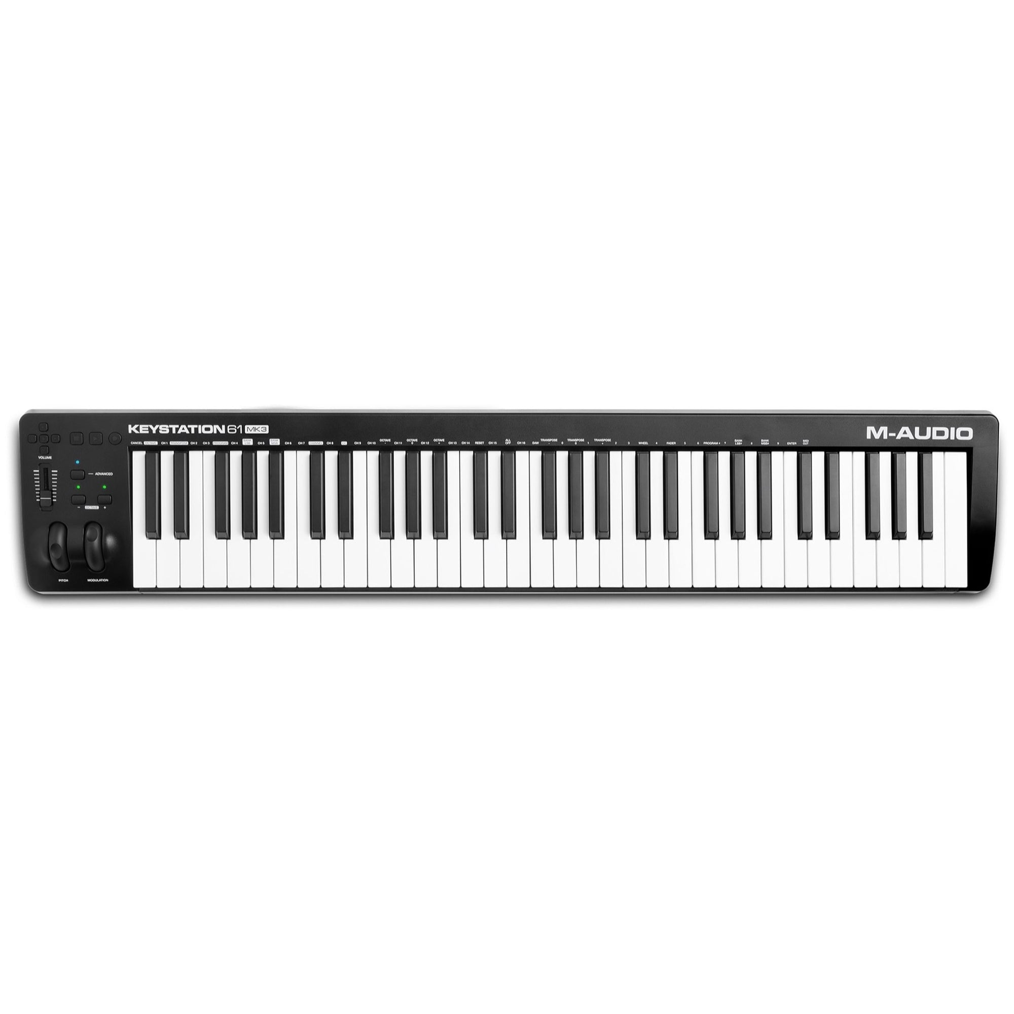 M-Audio Keystation 61 MK3 USB MIDI Controller, 61-Key