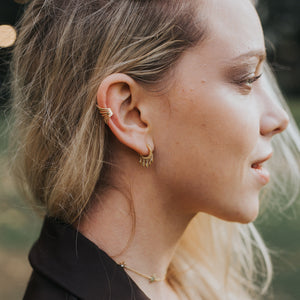 Ear Cuff Rock Oro - SHATÓ Jewelry