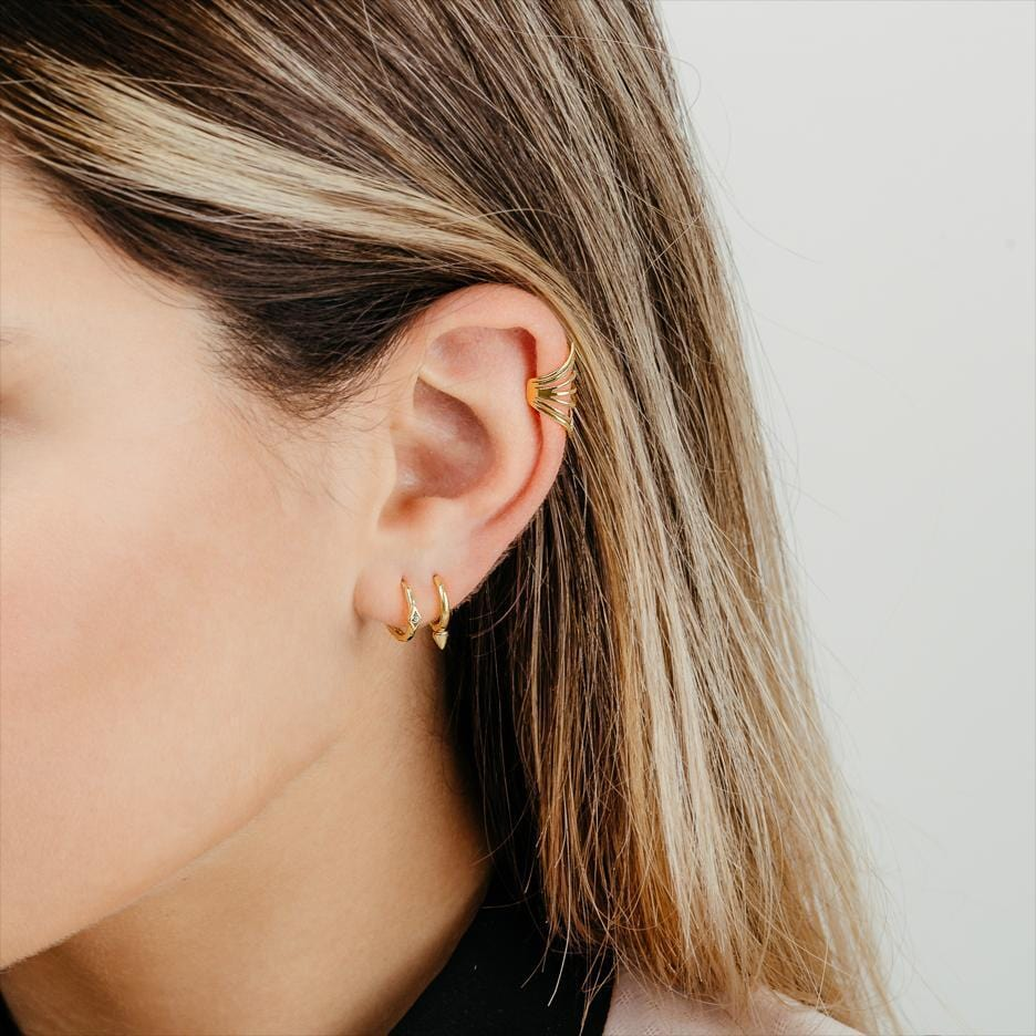 Ear Cuff Rock Oro