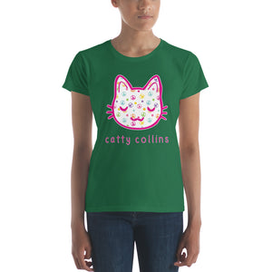 Women's Peace & Flowers Cat T-Shirt