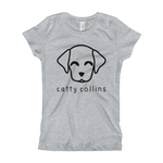 Girls Black Logo Dog T-Shirt