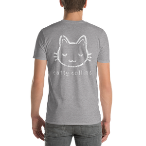 Men's White Distressed Logo T-Shirt