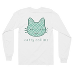 Women's Teal Pattern Long Sleeve Shirts