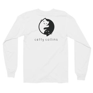 Women's Yin Yang Cat Long Sleeve Shirt