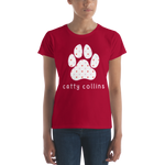 Women's Heart Pattern Dog T-Shirt