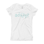 Girls Blue Adopt Dog T-Shirt