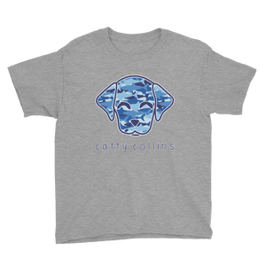 Boys Shark Camo Dog T-Shirt