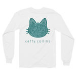 Women's Teal Paisleys Long Sleeve Cat Shirt