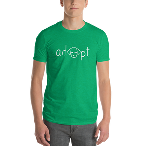 Men's White Adopt Dog T-Shirt