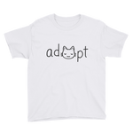 Boys Black Adopt Cat T-Shirt