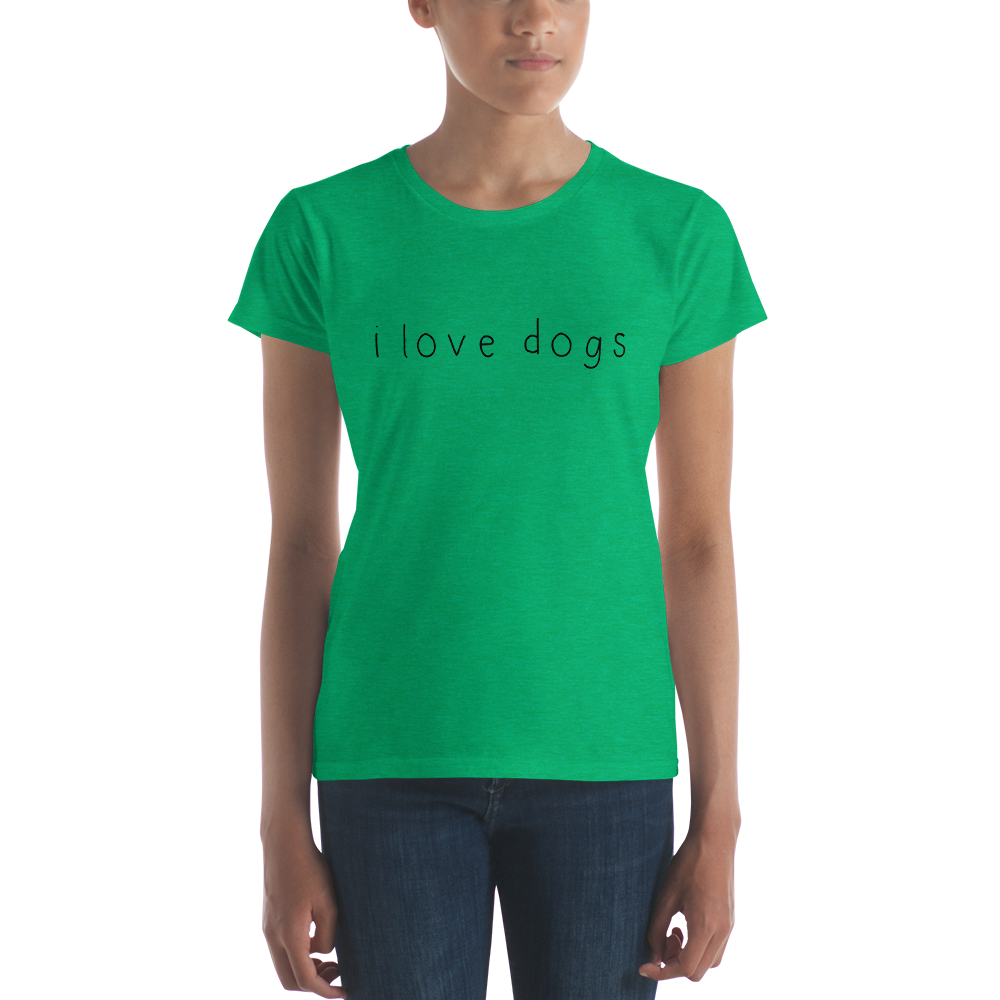Women's Black I Love Dogs T-Shirt