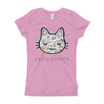 Girls Comic Cat T-Shirt