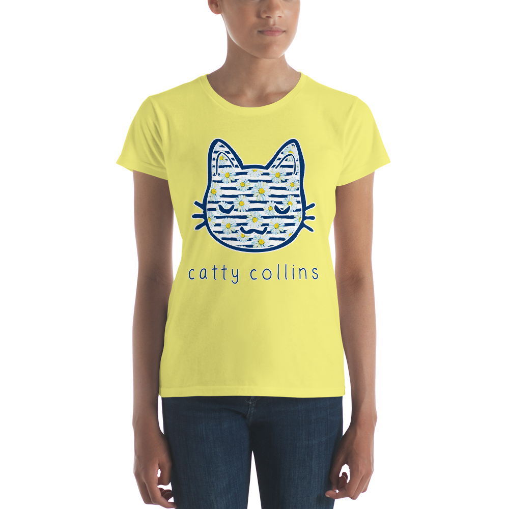 Women's Daisies Cat T-Shirt