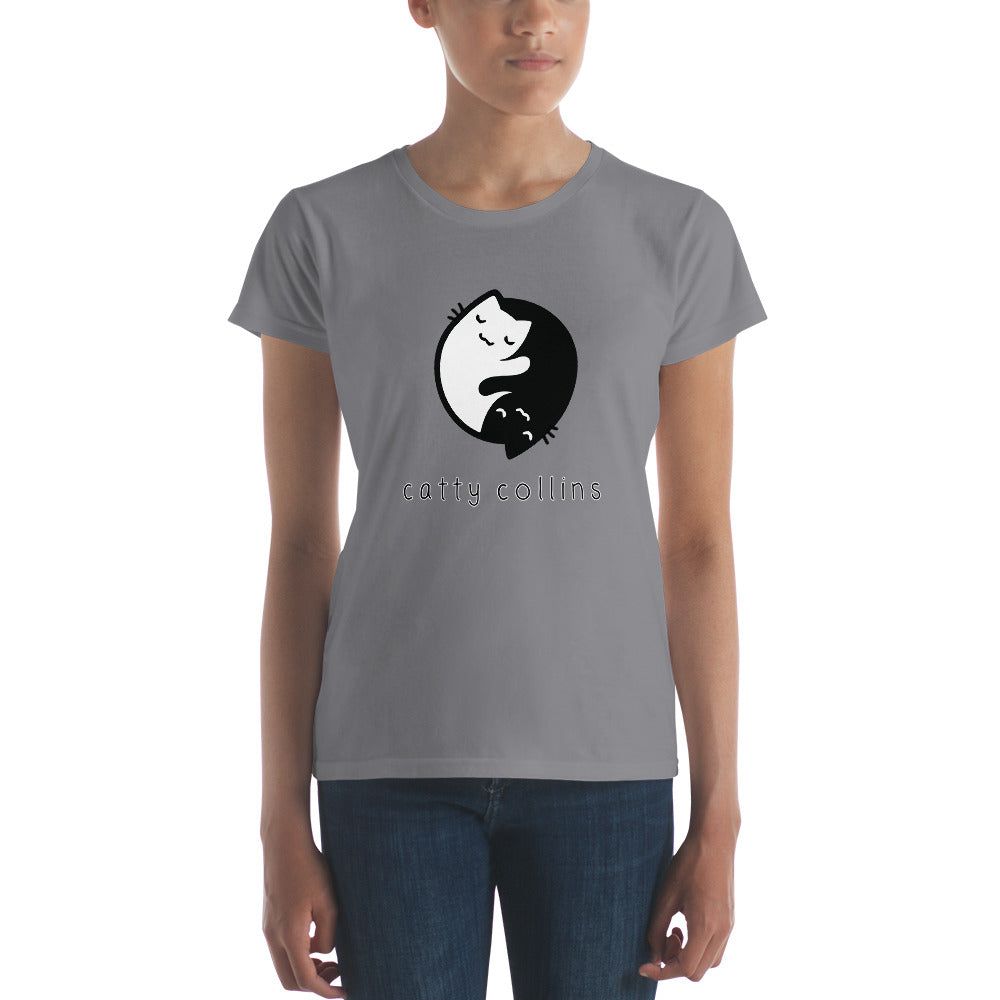 Women's Yin Yang Cat T-Shirt