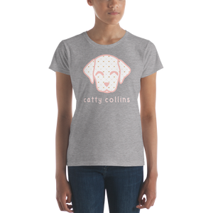 Women's Golden Hearts Pattern Dog T-Shirt