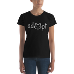 Women's White Adopt Cat T-Shirt
